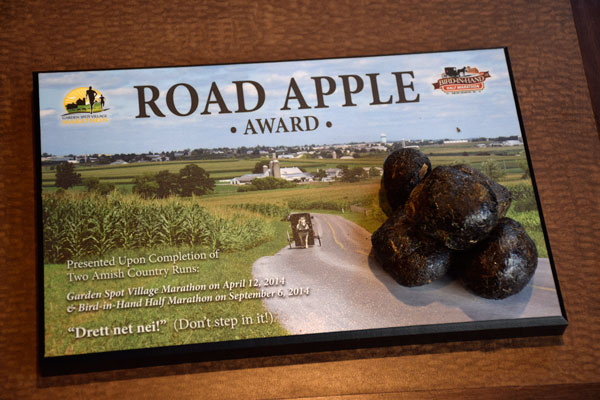 Road Apple Award Garden Spot Village Marathon